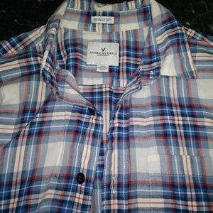 American Eagle Mens Soft Button Up